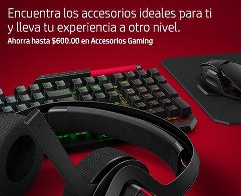 Ahorra hasta $600.00 en Accesorios Gaming