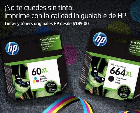 Tintas y Tóners originales HP a partir de $149.00 | Calidad inigualable HP ¡No te quedes sin tinta!