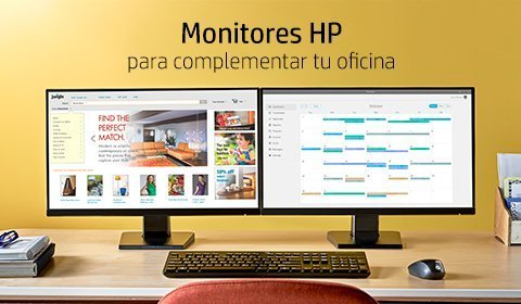 Monitores HP | Para complementar tu oficina