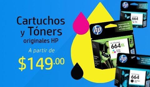 Cartuchos y Tóners originales HP a partir de $149.00